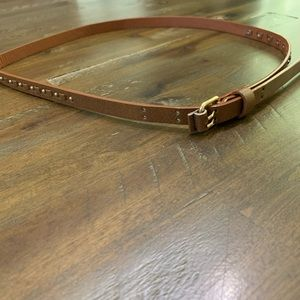 3/$15 cognac studded belt size 7